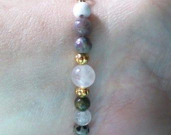 Assorted Gemstone Bracelet, Multi-Stone bracelet, Semi-Precious Gemstone Bracelet