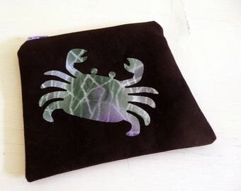 Small Zip Pouch, Cancer Zodiac Astrology Sign and Constellation