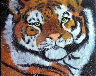 Snow Tiger Painting