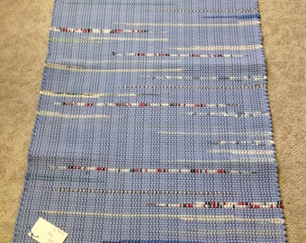 Rag Rug reuse cotton knit sheets 44 inches long by 27 inches wide Handcrafted Homedecor