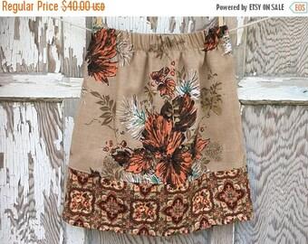 CRAZY SALE- Flea Market Skirt- Eco Friendly Reclaimed Fabrics-Womens-Xs- Boho Style