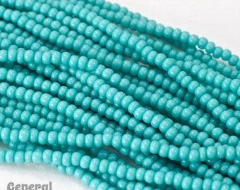 11/0 Opaque Aqua Czech Seed Bead (1/2 Kilo) #CSG004