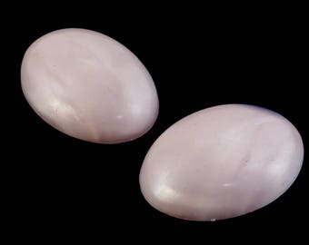 18mm x 25mm Pale Pink Marbled Oval Cabochon (2 Pcs) #690