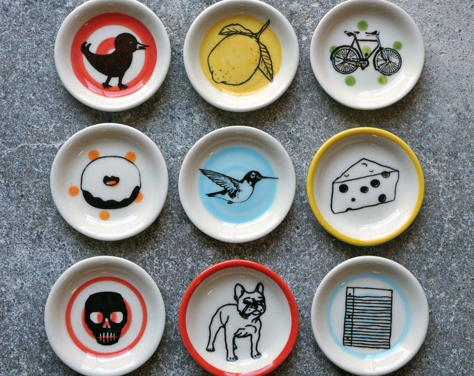 Featured listing image: NEW. The Littlest Dish. Palm sized dishes for a myriad of things. Jewelry-Treats-Candles-Sauces-A Pinch of Salt-Just Because It's Adorable