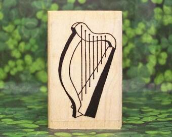 Irish Harp Rubber Stamp Icon of Ireland #297