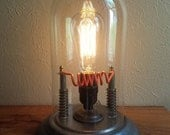 Edison Steampunk upcycled incandescent OOAK lamp