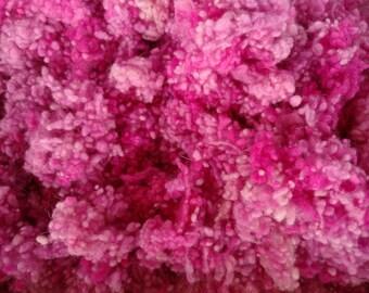 Pink Wool Nepps - Hand Dyed Nepps - Pink and Purple - Wet Felting  - Spinning Fiber - Felt Making - Fibre Art - Art Yarn - 10 grams