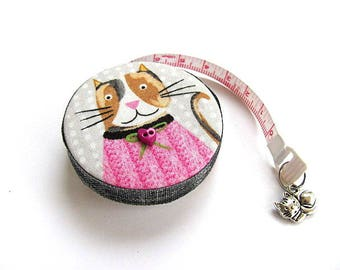 Measuring Tape  Sweater Cats Retractable Pocket Tape Measure