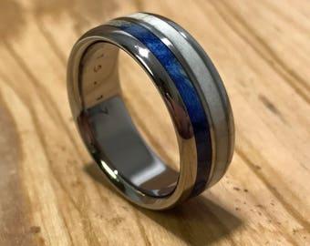 Titanium Ring, Deer Antler Ring, Wood Ring, Wedding Ring, Personalized Ring, Wooden Wedding Ring, Mens Ring, Womens Ring, Custom Made Ring