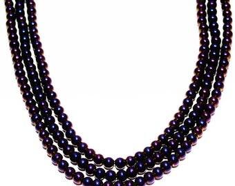Iris Purple Glass Beads- jewelry supplies- beading supplies- designer beads- glass beads- iridescent beads- dark purple beads- round beads