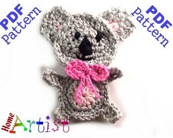 Koala Crochet Applique Pattern