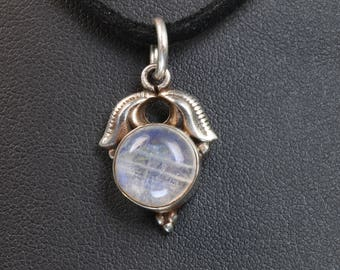 Vintage! Sterling Silver Pendant with Moonstone