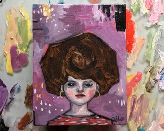 Oil painting portrait - Heather - Original art
