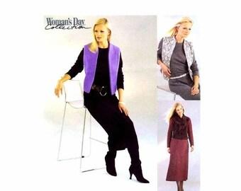 SALE Misses Dress Lined Vest McCalls 3379 Sewing Pattern Size 8 - 10 - 12 - 14 Bust 31 1/2 - 32 1/2 - 34 - 36 Uncut