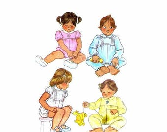 SALE Babys Rompers McCalls 7382 Sewing Pattern Size Small Uncut