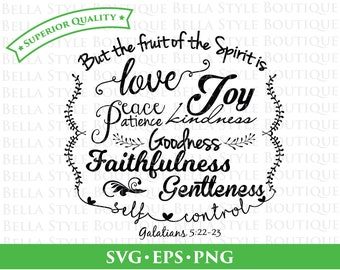 Fruit of the Spirit svg png eps cut file