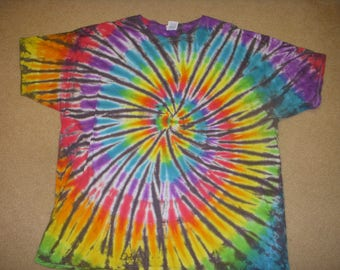 3X tie dye tshirt rainbw and grey, XXXL
