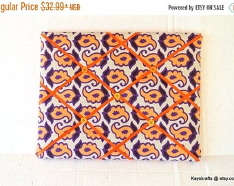 Eclipse Sale Papaya Orange And Purple Memory Board French Memo Board, Fabric Ribbon Memo Board, Ribbon Photo Board, Christmas Gift, Gift For