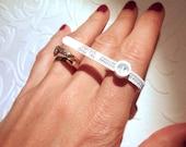Ring Sizer French sizes - reusable multisizer ring gauge - French system - measure your finger, ring sizing, multisizer, baguier plastique