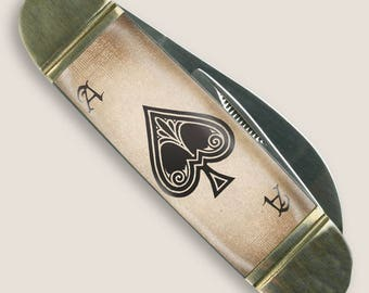 Ace of Spades - Mack the Knife - Pocket Knife by Trixie & Milo - Gift Boxed