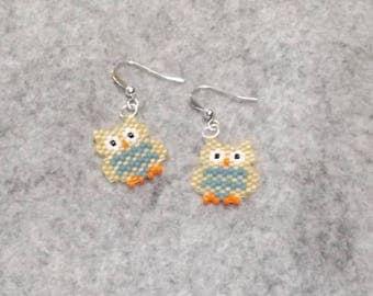 Smart and Wise little OWL earrings