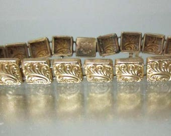 Antique Gold Filled Victorian Link Bracelet Pat'd 1887