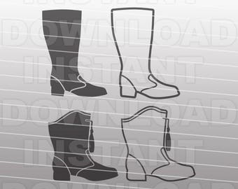 Drill Team Majorette Boots SVG File,Nancy Boot SVG,Marching Band svg -Commercial & Personal Use- Vector svg for Cricut,Silhouette,vinyl cut