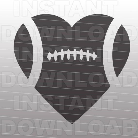 Football Heart SVG File Cutting Template-Clip Art for