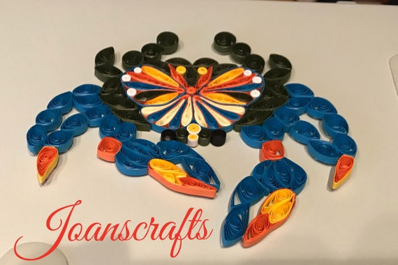 Quilling, Eastern Shore Blue Crab Ornament
