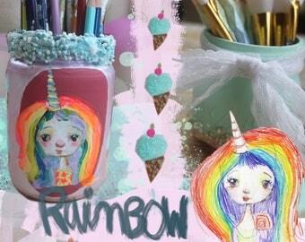 Unicorn Rainbow Jar - online class