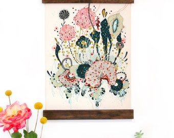 Wall Art - Hanging Canvas Art Print - Inspired by Vintage Botanical Charts and Vintage Science Posters, Fine Art Print, Art Poster - Charm