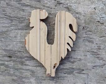 Wood Chicken. Kitchen Decor, Rustic Decor, Reclaimed Wood Hen, Kitchen Wall Art, Restaurant Decor, Distressed Wood Chicken