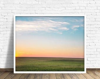 "landscape, wall art, art prints, large art, large wall art, fine art photography, modern, contemporary, nature, art - ""North Country Sunset"""