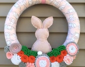 Custom Order for Brittany Grose - Easter Wreath - Spring Wreath - Bunny Wreath - Bunny Decor - Spring Decor - Easter Decor  - Easter