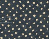 Japanese Fabric paint spots - teal, beige - 50cm