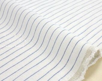 Japanese Fabric - yarn dyed stripes - blue, white - 50cm