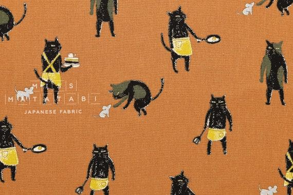 Terracotta Bad japanese fabric bad boy cat canvas terracotta 50cm from