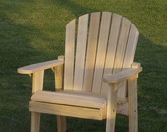 chair kits. 1 adirondack garden chair kit - unfinished 99% clear wood kits