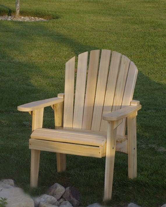 Adirondack garden chair kit unfinished clear wood