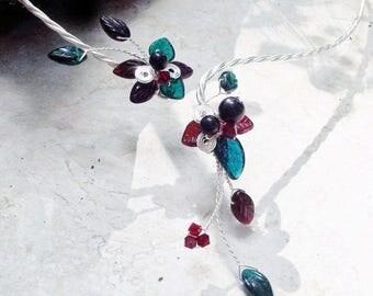 ON SALE Yule Fairy Art Nouveau Torc Necklace