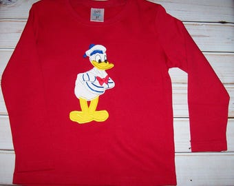 Sample SALE Boys Red L/S Donald Duck Sailor Shirt Size 3T--Sailor--Cruise--Vacation--Ready To Ship