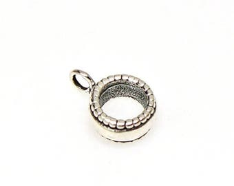 SALE Adapter Bead Sterling Silver Large Hole for use on European Style Charm Bracelets up to 4mm CBW