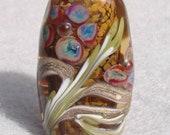COGSWELL Handmade Lampwork Art Glass Focal Bead - Flaming Fools Lampwork Art Glass  sra