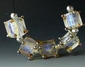 Perles Lampwork/SRA au chalumeau/perles/dichroïque/cubes/or /