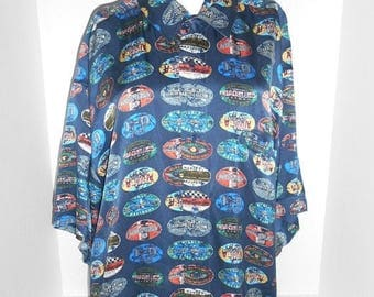 Closing Shop 40%off SALE Vintage mens  HARLEY DAVIDSON silk shirt    L large