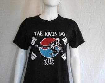 Closing Shop 40%off SALE Tae Kwon Do 70s 80s t shirt, Martial Arts t shirt