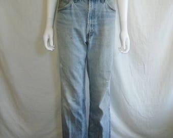 Closing Shop 40%off SALE Vintage LEVIS 517 Jeans 34 Waist Orange Tab, Light Blue Levis Jeans