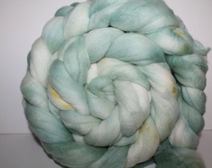 Kettle Dyed Merino Wool Top. Super fine. 19 micron  Soft and easy to spin. Huge 1lb Braid. Spin. Felt. Roving.M325