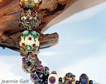 Lampwork  Art Beads by Jeanniesbeads 3082