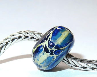 Luccicare Lampwork Bead - Dragon XVIII -  Lined with Sterling Silver